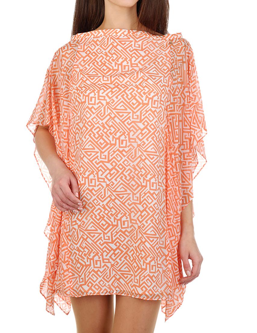 Купить Платье, PATRIZIA PEPE, Оранжевый, 100%Шелк, Весна-Лето