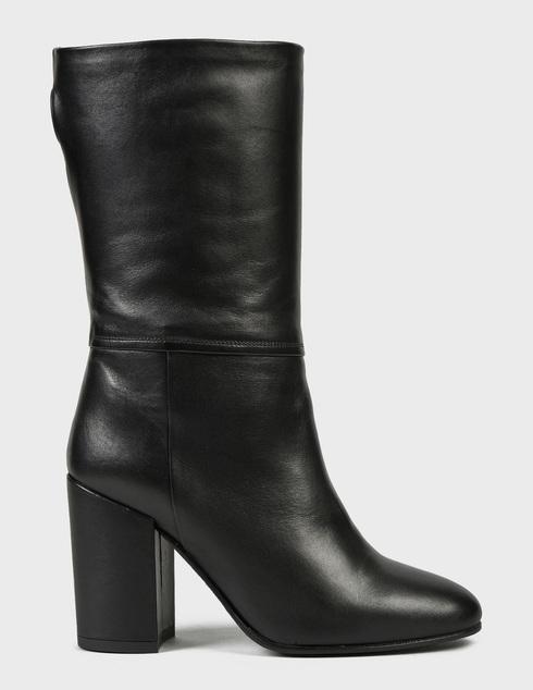 женские черные кожаные Полусапоги Pertini 202W30244D1 - фото-5