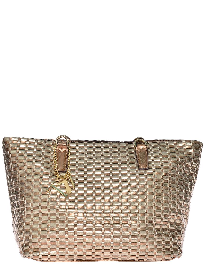 Фото 2 - Женская сумка Trussardi Jeans 7590_gold