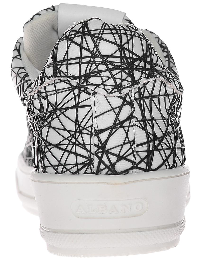 Фото 2 - женские кроссовки  белого цвета