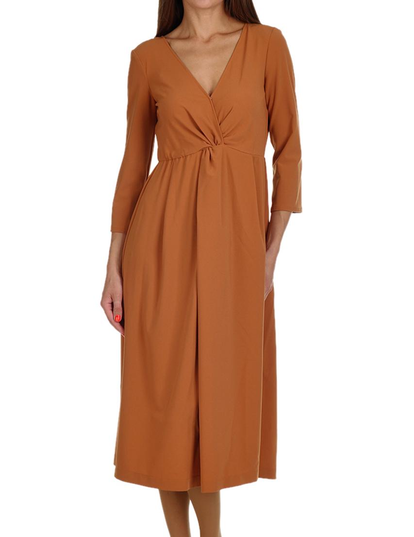 Купить Платье, PATRIZIA PEPE, Коричневый, 12%Эластан 88%Полиамид, Осень-Зима