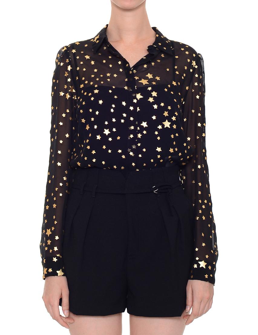 Блуза, RED VALENTINO, Черный, 100%Шелк, Осень-Зима  - купить со скидкой