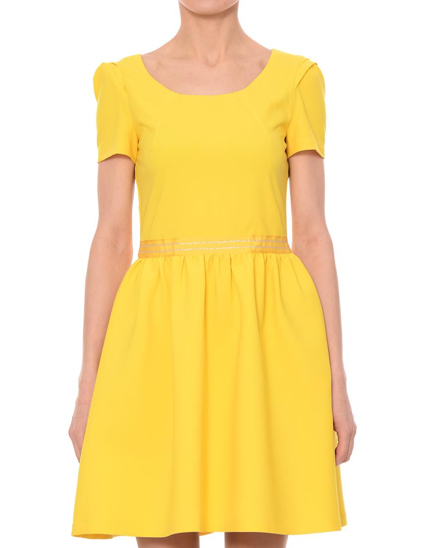 Купить Платье, PATRIZIA PEPE, Желтый, 12%Эластан 88%Полиэстер, Весна-Лето