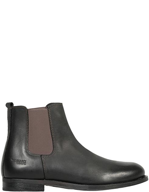 мужские черные кожаные Ботинки Trussardi 77A001169Y099999-K299 - фото-5