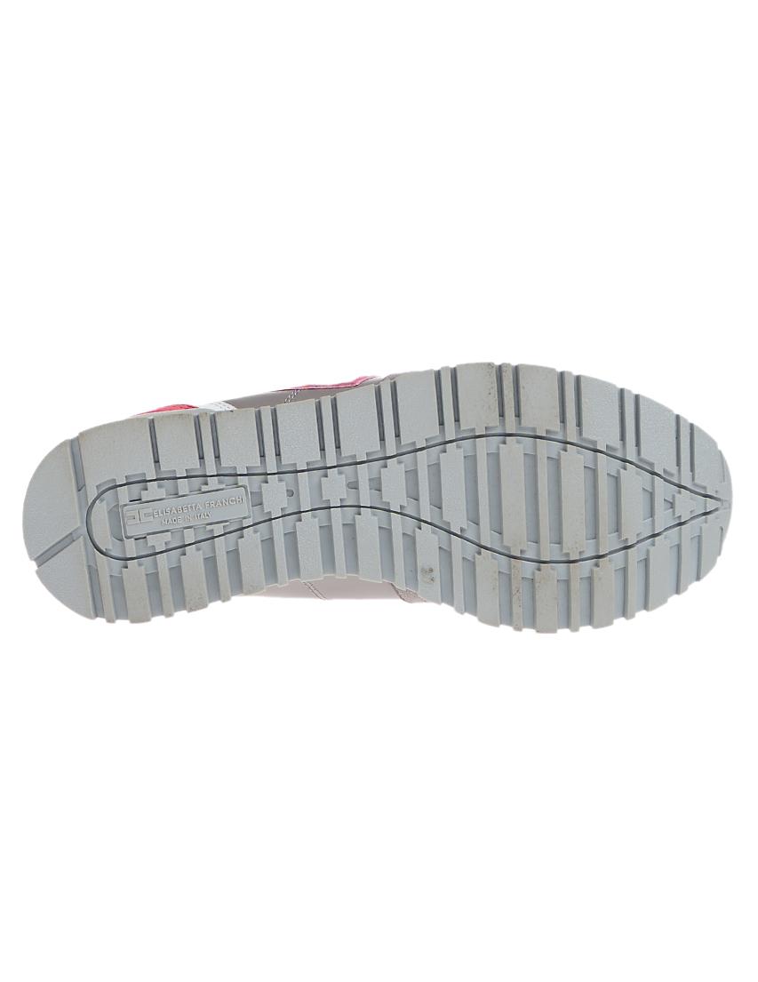Кожаные серые кроссовки ELISABETTA FRANCHI (ITALY)