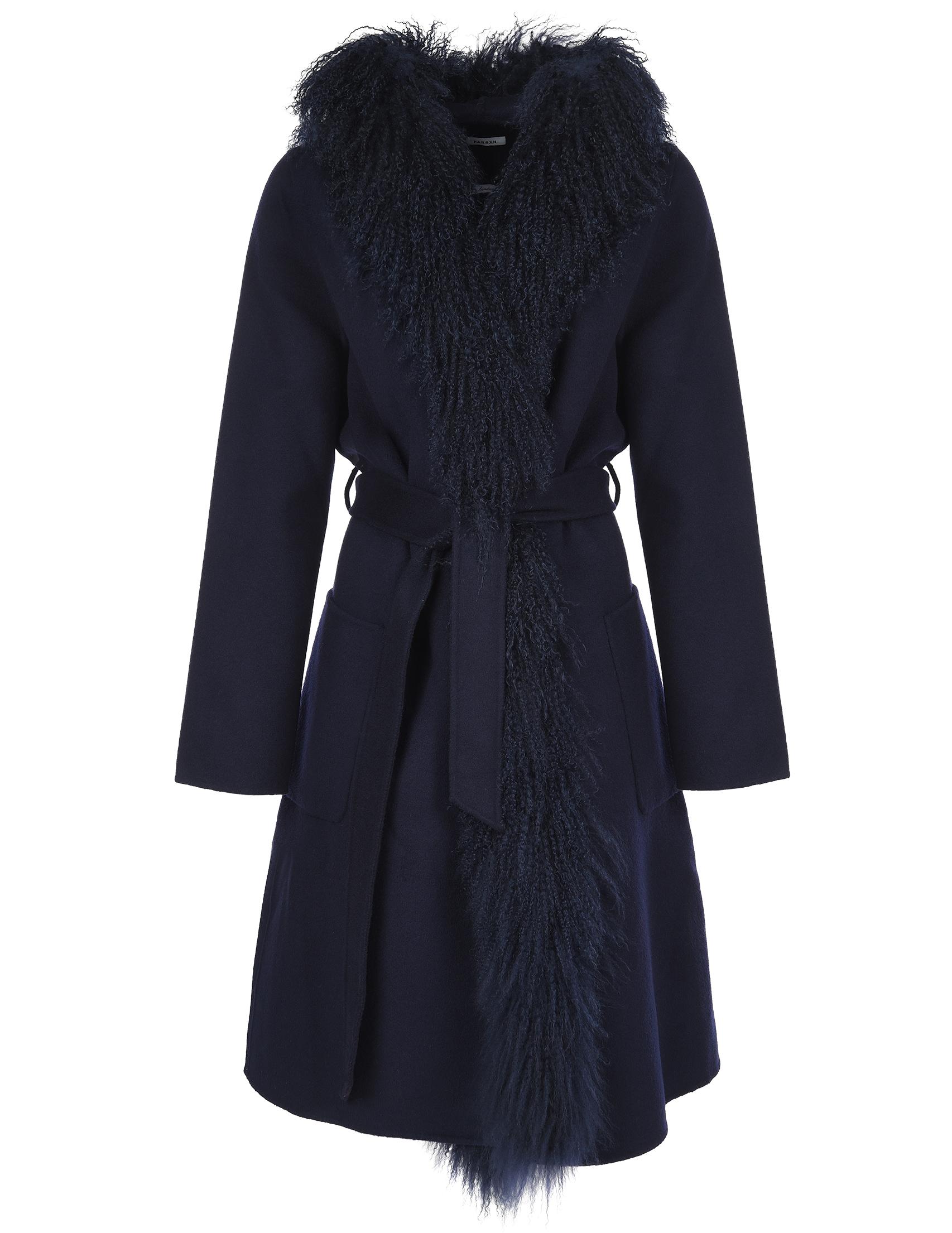 Купить Пальто, P.A.R.O.S.H., Синий, 100%Шерсть;100%Полиэстер, Осень-Зима