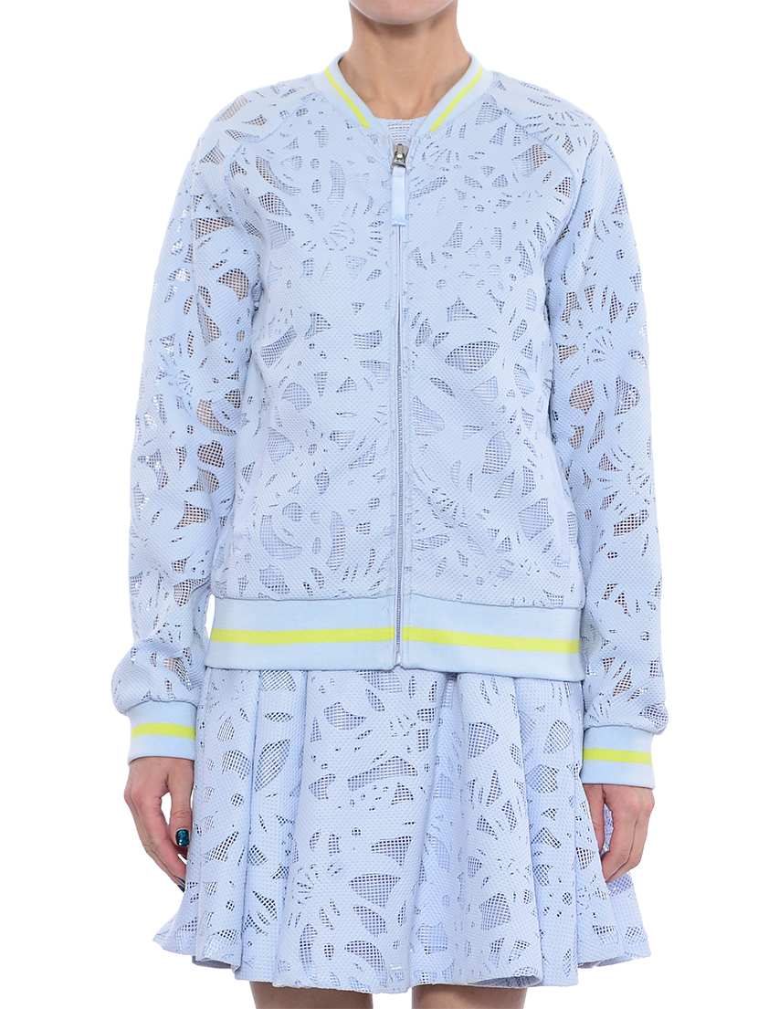 Купить Куртка, TWIN-SET, Голубой, 97%Полиэстер 3%Эластан, Весна-Лето