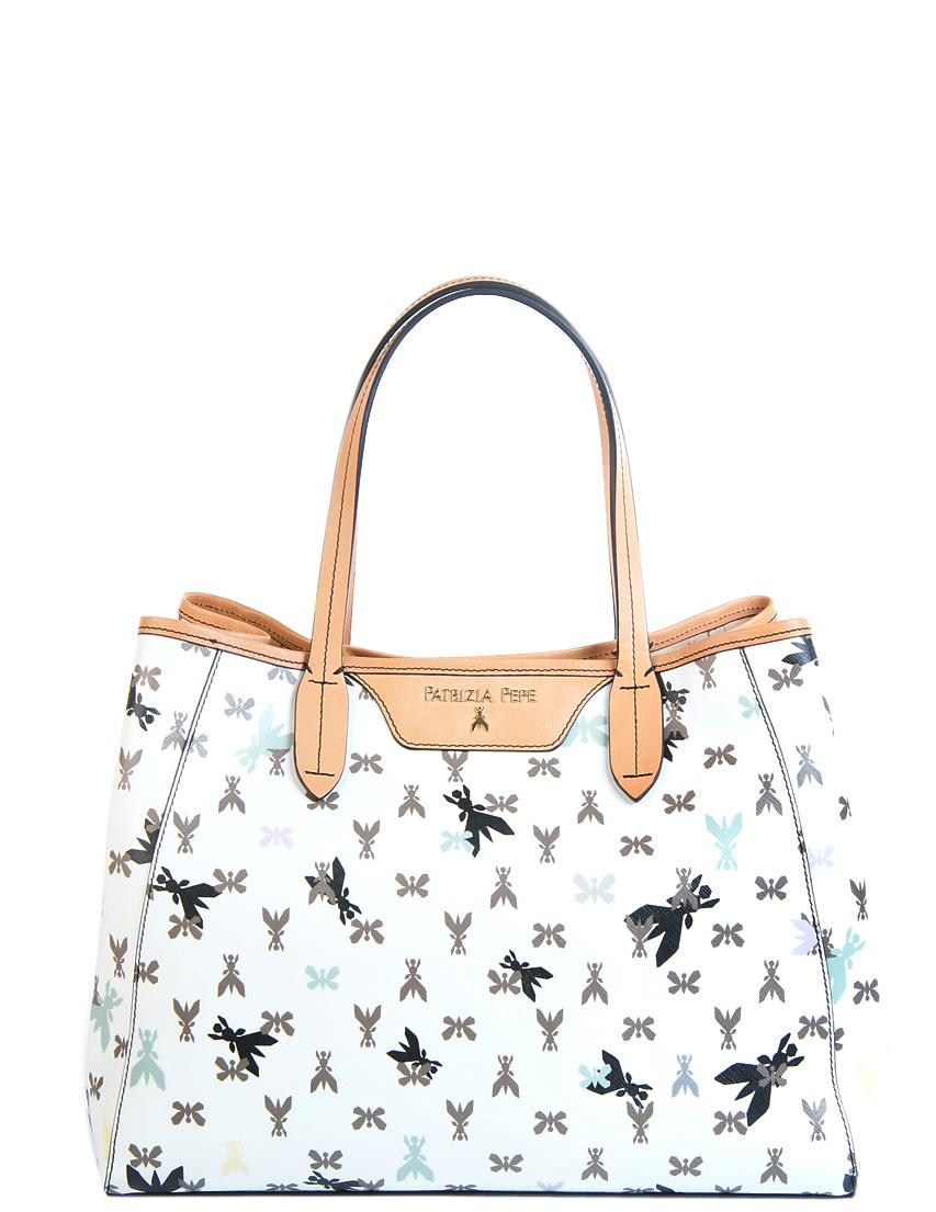 Купить Женские сумки, Сумка, PATRIZIA PEPE, Белый, 80%Кожзам 20%Кожа, Весна-Лето
