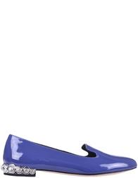 Женские слиперы Miu Miu 100333-VERNICE-AVIO
