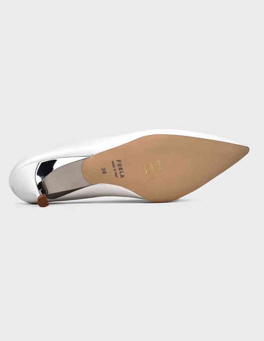 женские белые кожаные Мюли Furla YC71FCD - фото-5