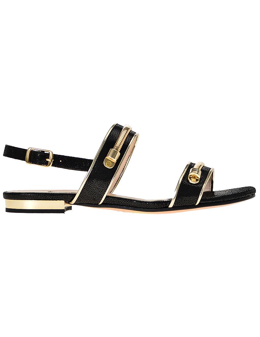 Фото 7 - женские сандали  черного цвета