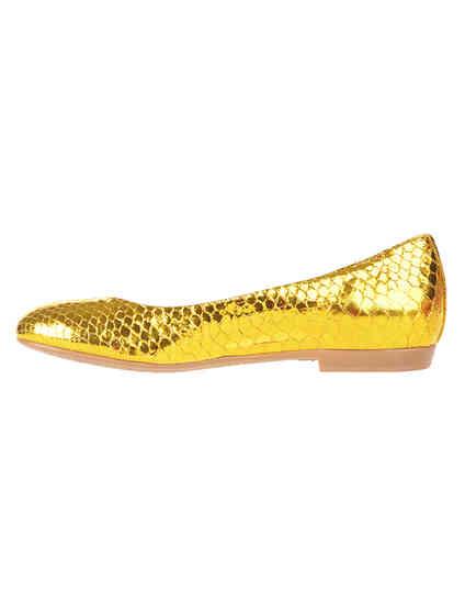 женские золотые кожаные Балетки Renzi 501112А_gold - фото-5