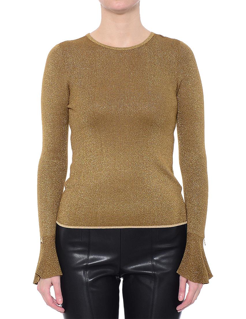 Купить Блуза, PATRIZIA PEPE, Золотой, 75%Вискоза 10%Метал 15%Полиамид, Осень-Зима