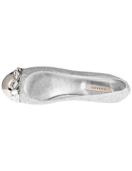 серебряные Балетки Casadei 084_silver размер - 37.5