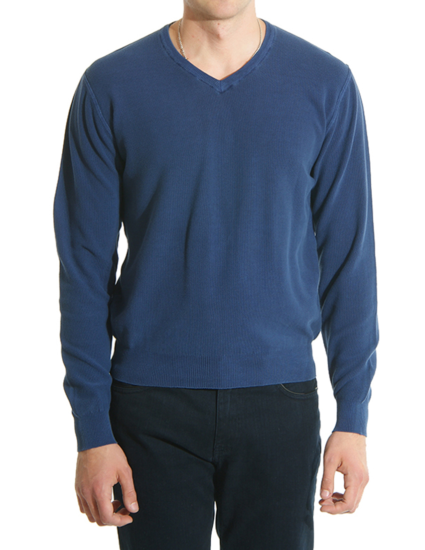 Мужской пуловер BASILE BLU С-2016navy
