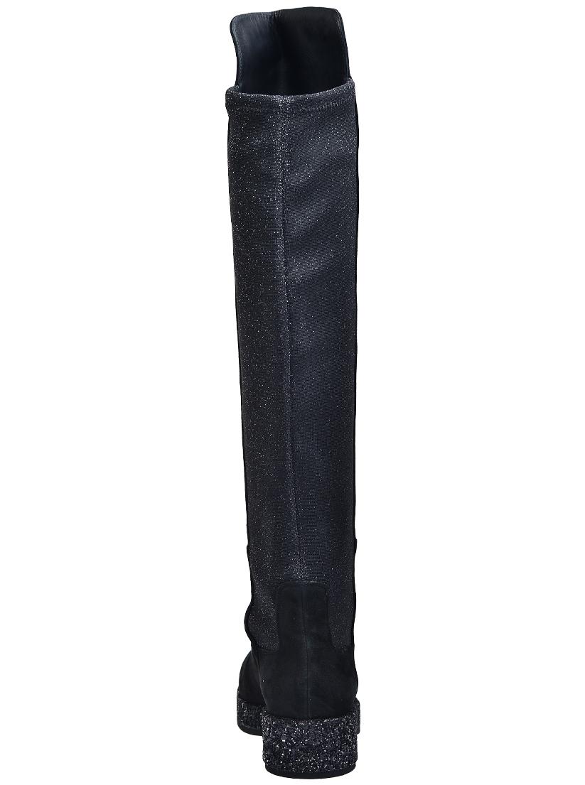 Фото 3 - женские ботфорты  черного цвета