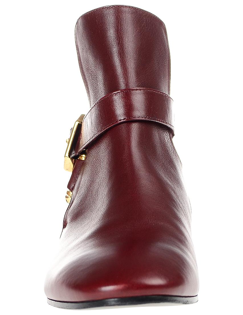 Фото 4 - женские ботинки и полуботинки  бордового цвета