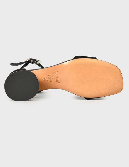 женские черные замшевые Босоножки Pertini 211W30801D3-V47 - фото-5