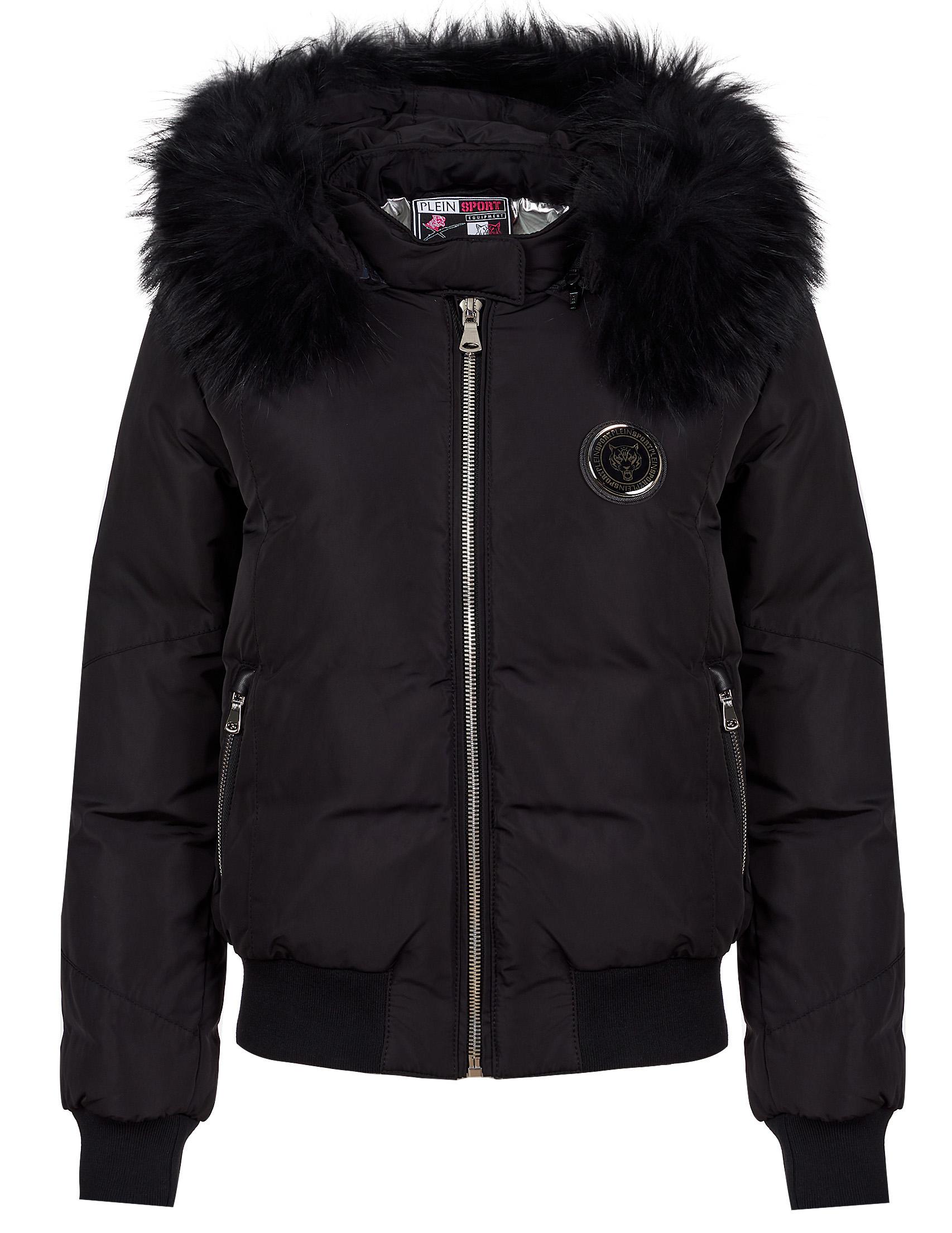 Купить Куртки, Куртка, PLEIN SPORT, Черный, 100%Полиэстер;100%Кожа, Осень-Зима