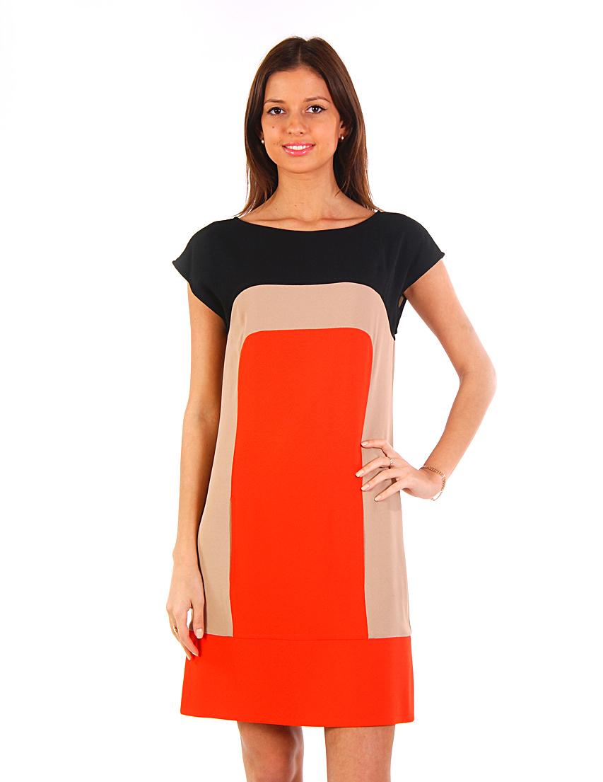 Купить Платье, PATRIZIA PEPE, Оранжевый, 57%Ацетат 43%Вискоза, Весна-Лето