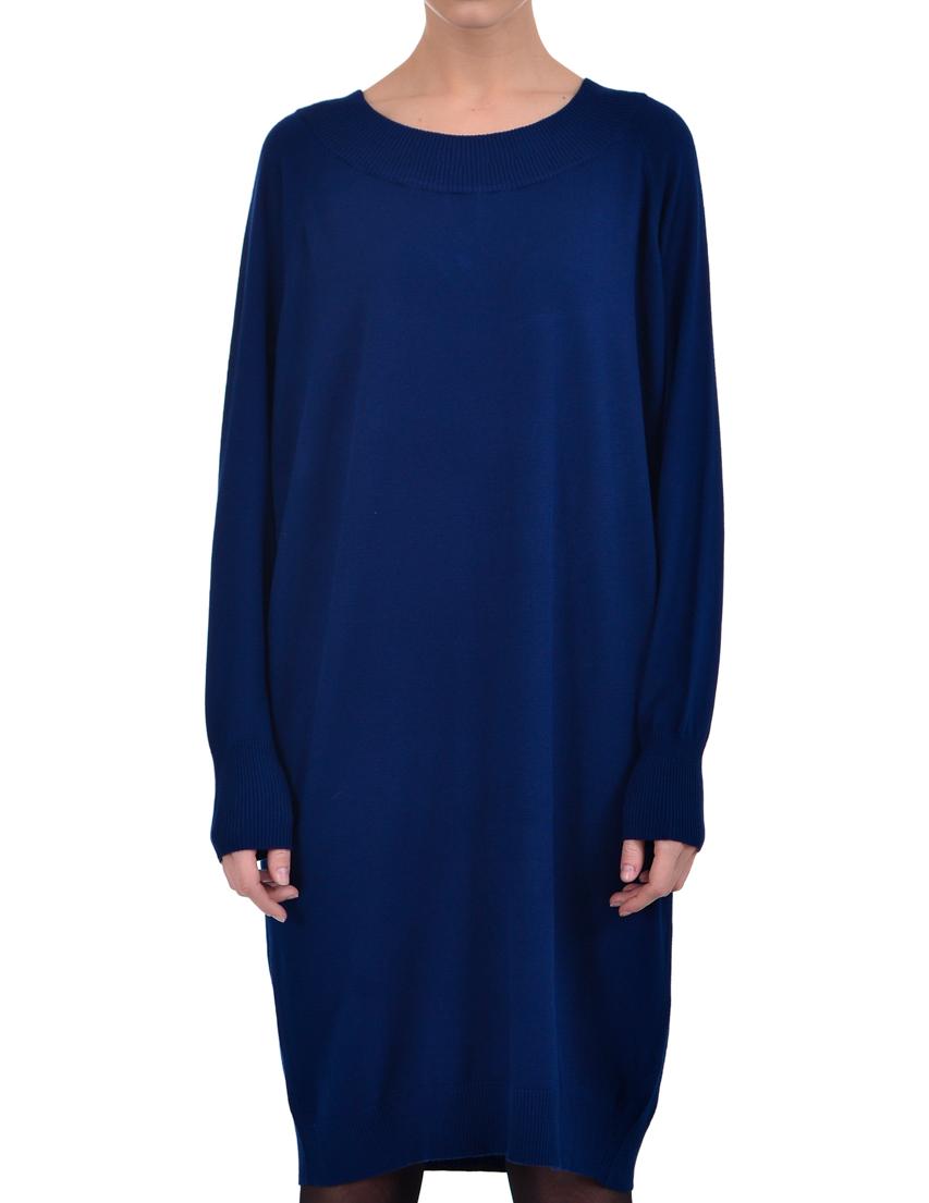 Купить Платье, TRUSSARDI JEANS, Синий, 76%Вискоза 24%Лён, Осень-Зима