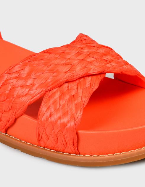 женские коралловые текстильные Босоножки What For SS21WF155_PINK - фото-5