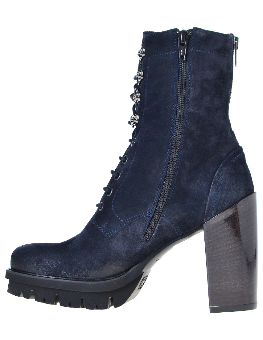 Фото 3 - женские ботинки и полуботинки  синего цвета