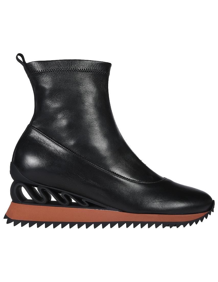 Кожаные чёрные кроссовки LE SILLA (ITALY)