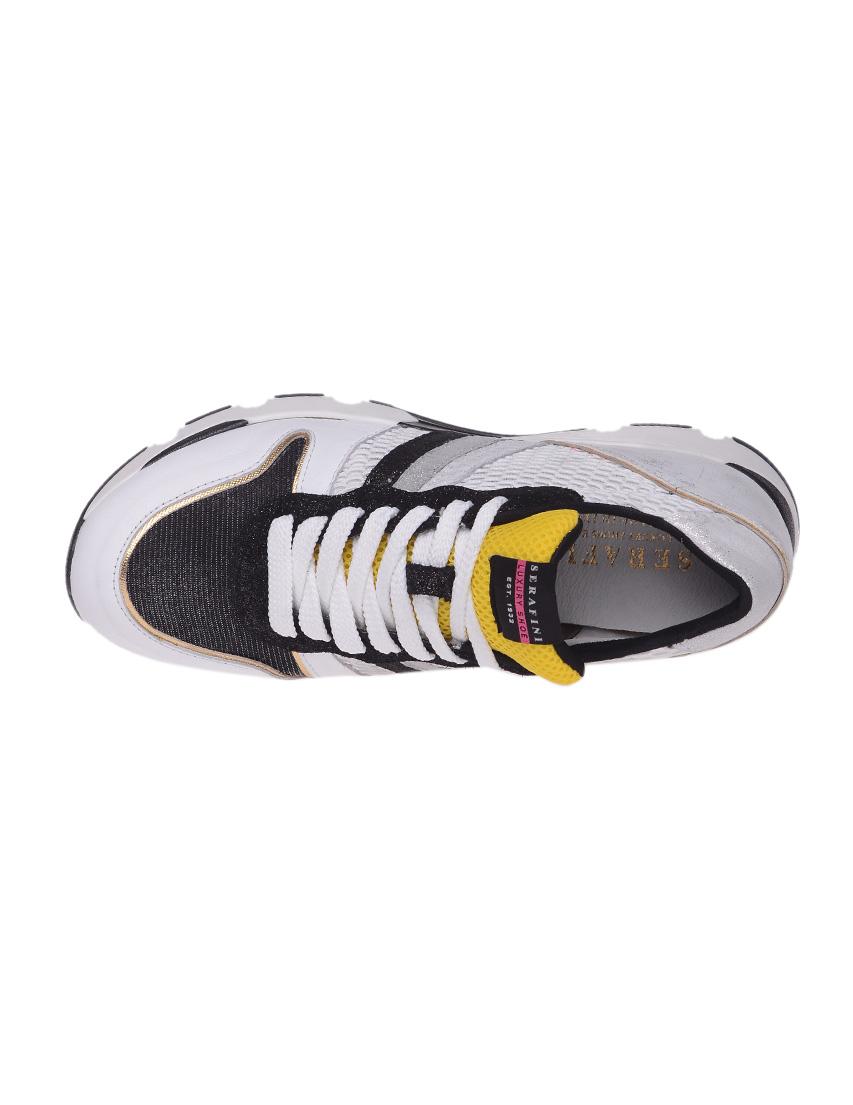 Кожаные белые кроссовки SERAFINI (ITALY)