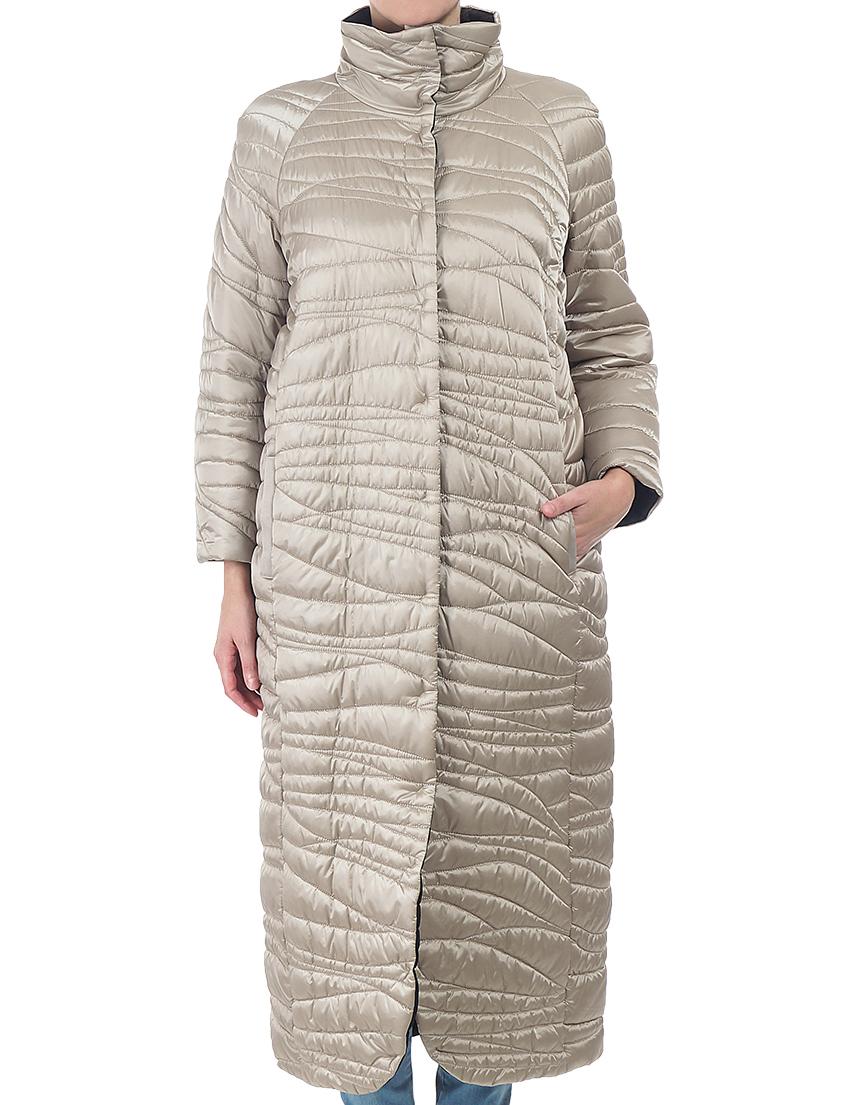 Купить Пальто, PATRIZIA PEPE, Бежевый, 100%Полиэстер, Осень-Зима
