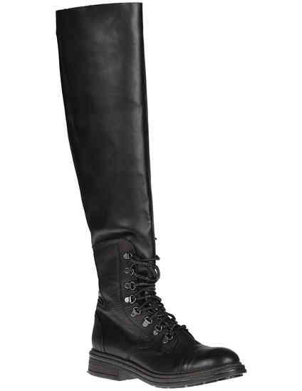 женские черные Ботфорты Now 3967_black - фото-2