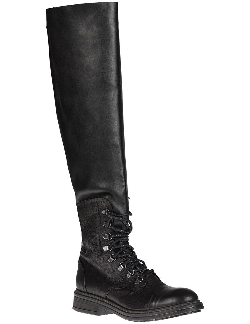 Фото 2 - женские ботфорты NOW черного цвета