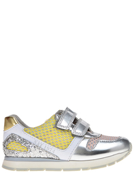 Детские кроссовки для девочек Naturino Maxi-argento-rosa-limoncelo_silver