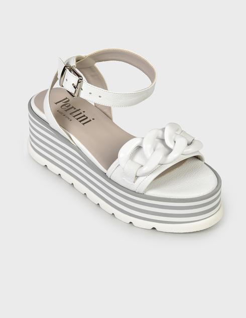 женские белые Босоножки Pertini 211W30943D2- - фото-2