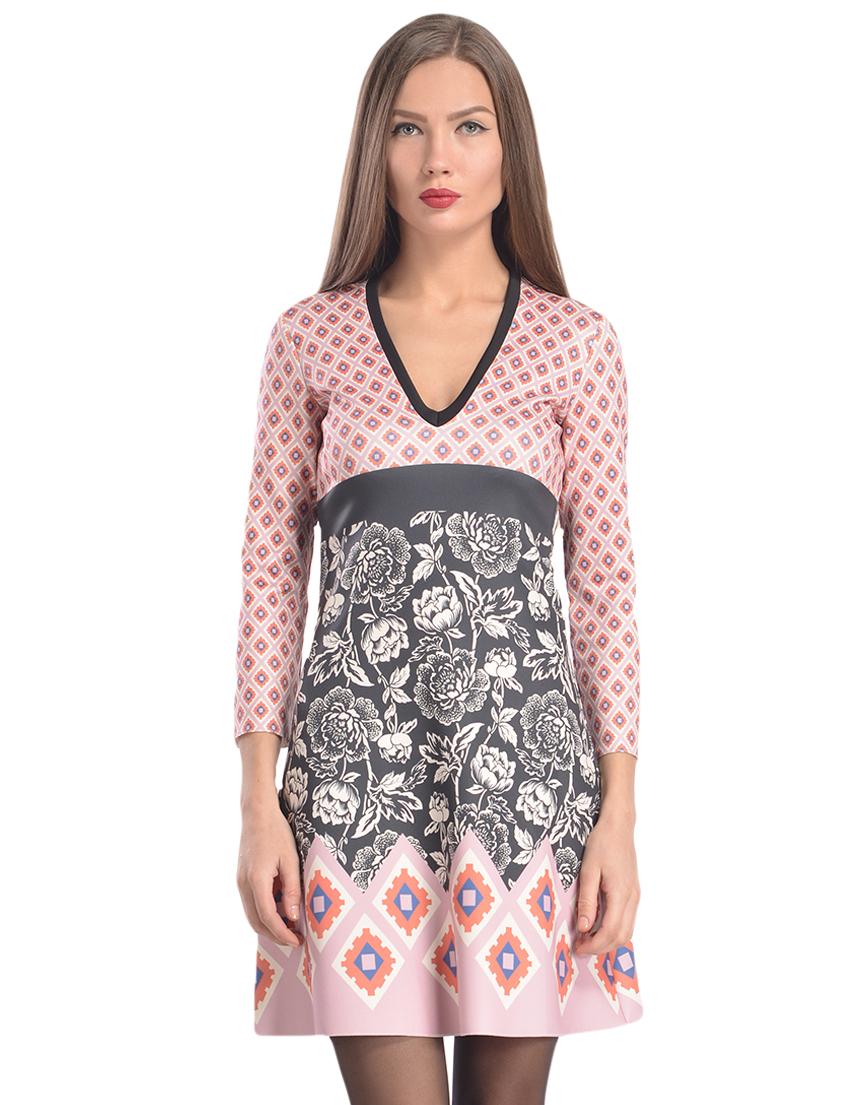 Купить Платье, PATRIZIA PEPE, Многоцветный, 5%Эластан 95%Полиестер, Осень-Зима