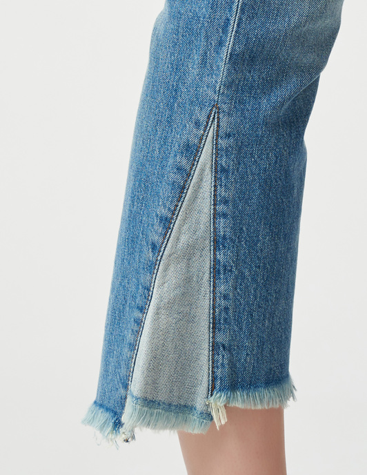 J Brand JB001303-2030C093RAW-AUBRIE-High-Rise-Crop-Boot-blue фото-5