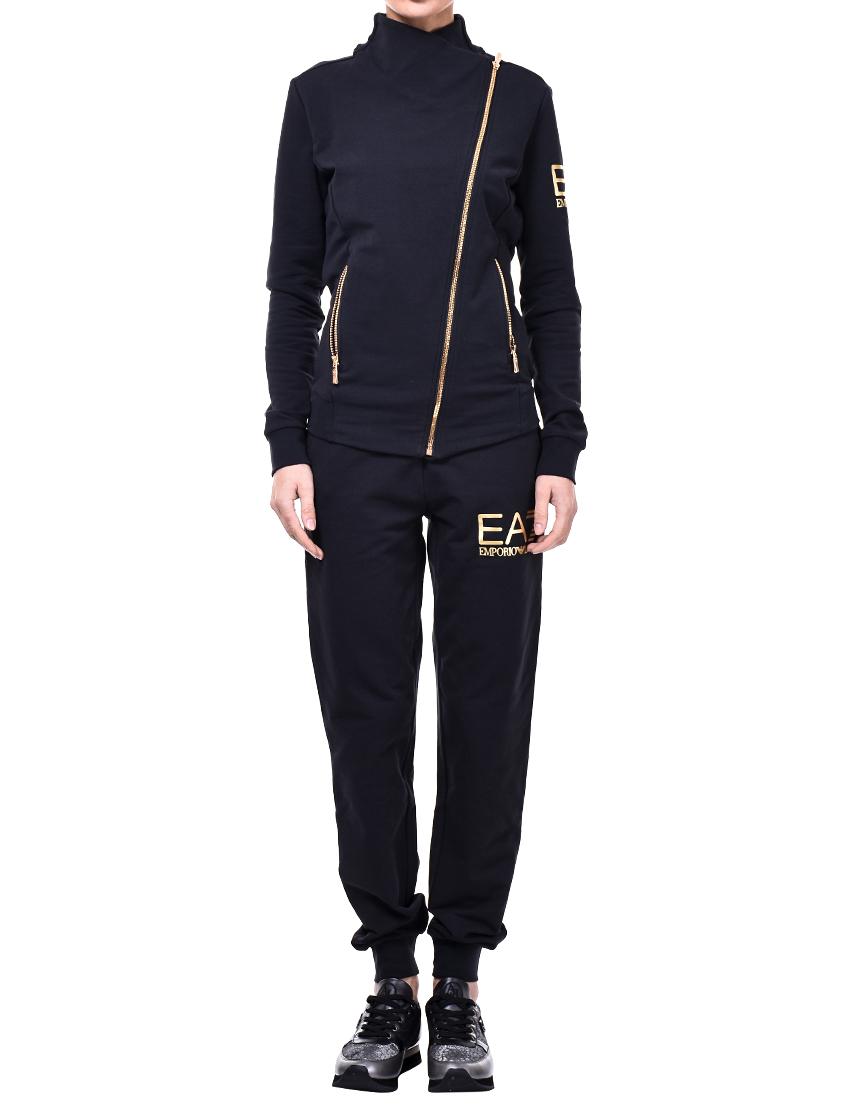 Купить Спортивный костюм, EA7 EMPORIO ARMANI, Черный, 95%Хлопок 5%Эластан, Осень-Зима
