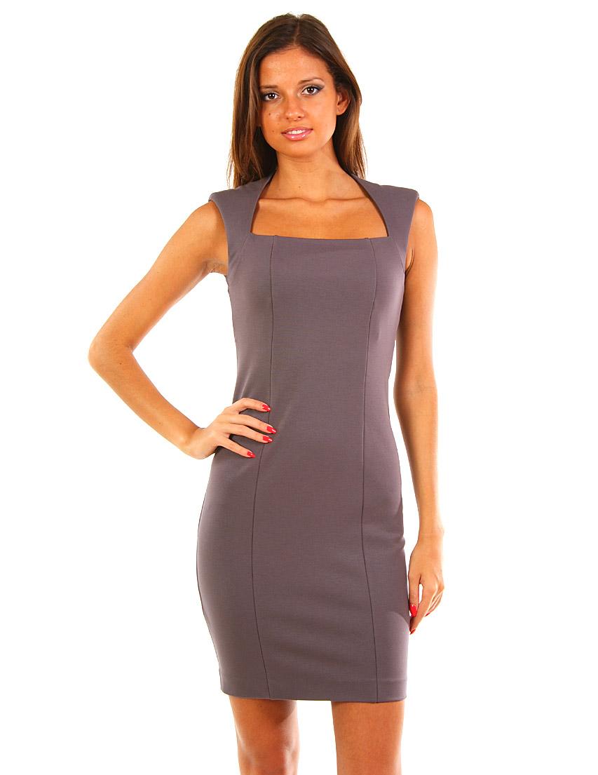 Купить Платье, PATRIZIA PEPE, Фиолетовый, 92%Вискоза 8%Эластан, Осень-Зима