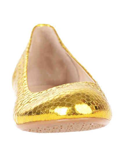 женские золотые Балетки Renzi 501112А_gold - фото-6