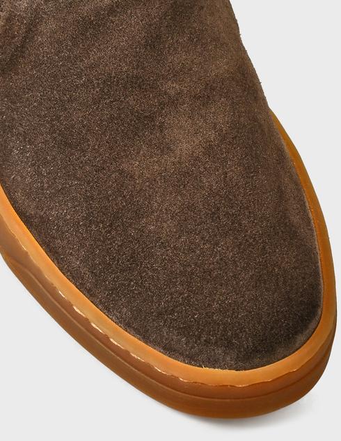 мужские коричневые замшевые Слипоны Henderson Baracco AGR-RODI.0 - фото-5