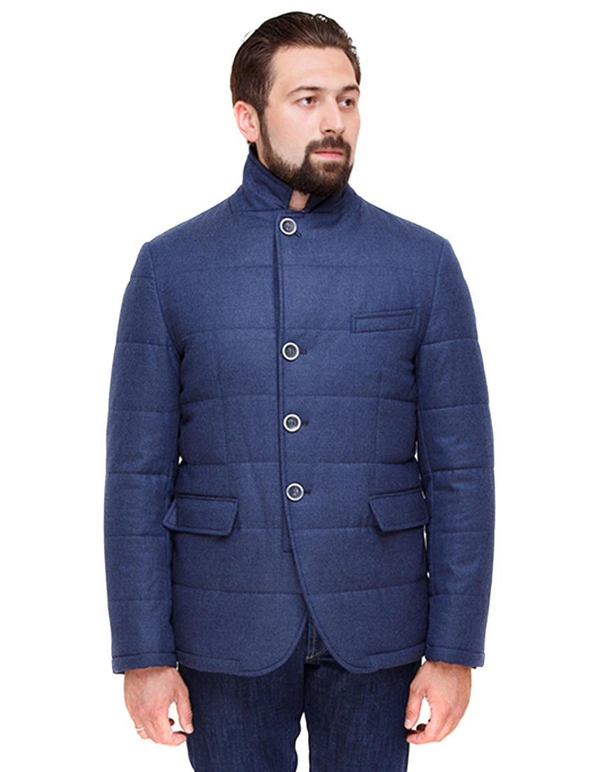 Купить Пальто, HERESIS, Синий, 100%Новозеландская шерсть; подкладка 100%Вискоза, Осень-Зима