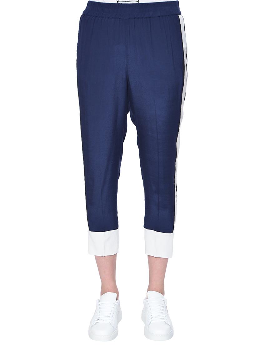 Купить Спортивные брюки, TWIN-SET, Синий, 100%Вискоза, Весна-Лето