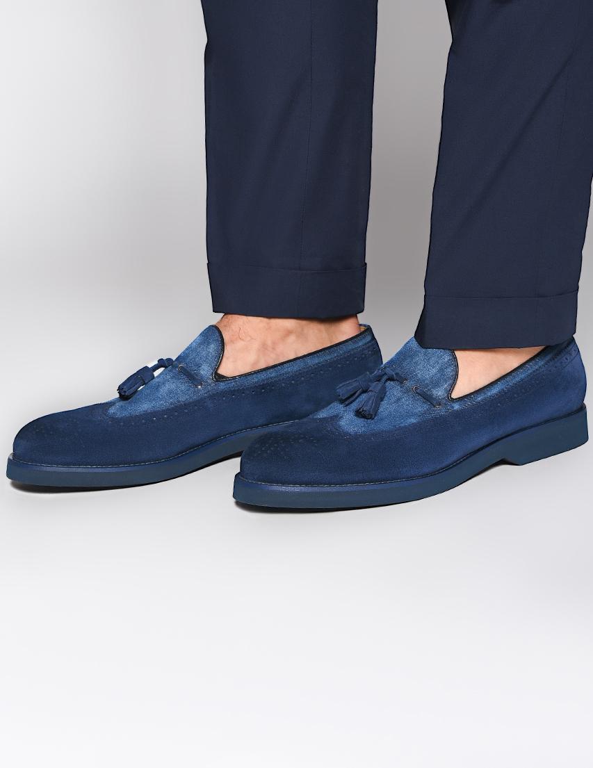 Мужские лоферы DoucalS 1786-blue