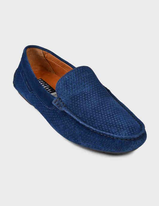 мужские синие Мокасины Fratelli Rossetti S28140-24206-blue - фото-2