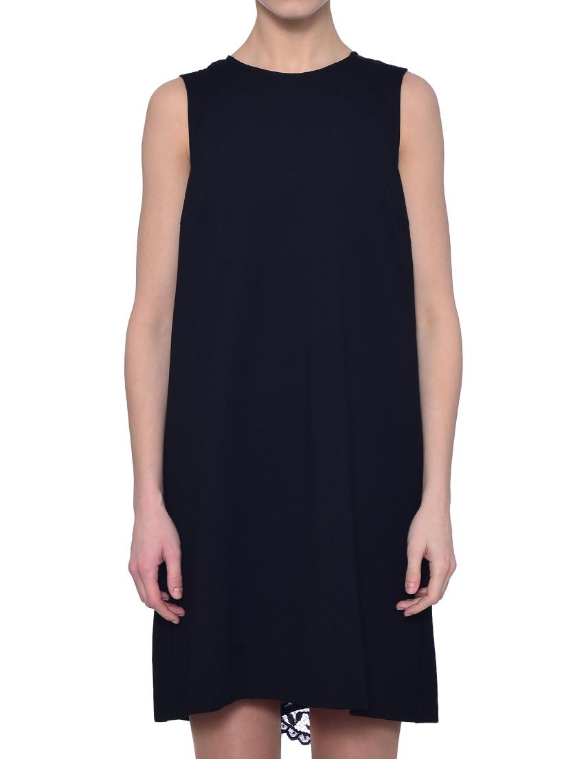 Купить Платье, TWIN-SET, Черный, 62%Вискоза 31%Полиамид 7%Эластан, Весна-Лето
