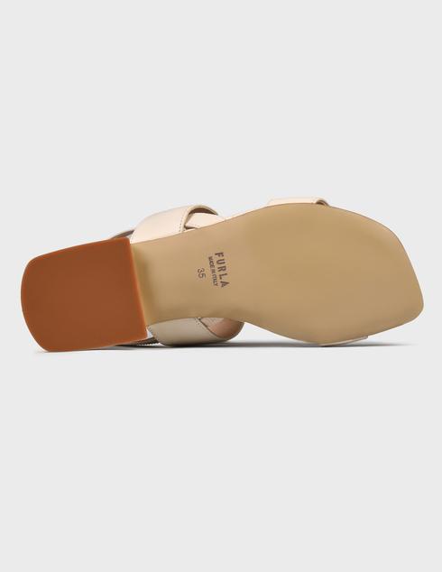 женские бежевые кожаные Босоножки Furla YC87FUC - фото-5
