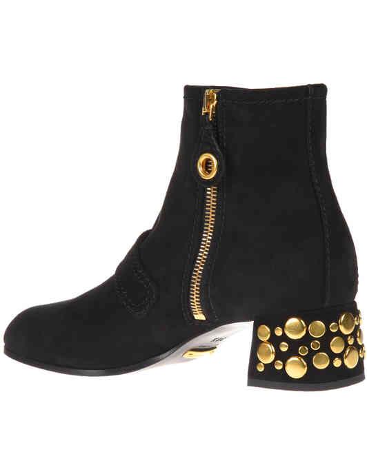 черные женские Ботильоны Car Shoe KDT53N008F0002_black 9410 грн