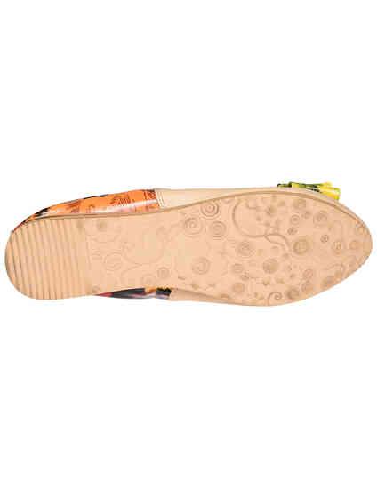 женские бежевые кожаные Балетки Francesco Valeri 230_beige - фото-5