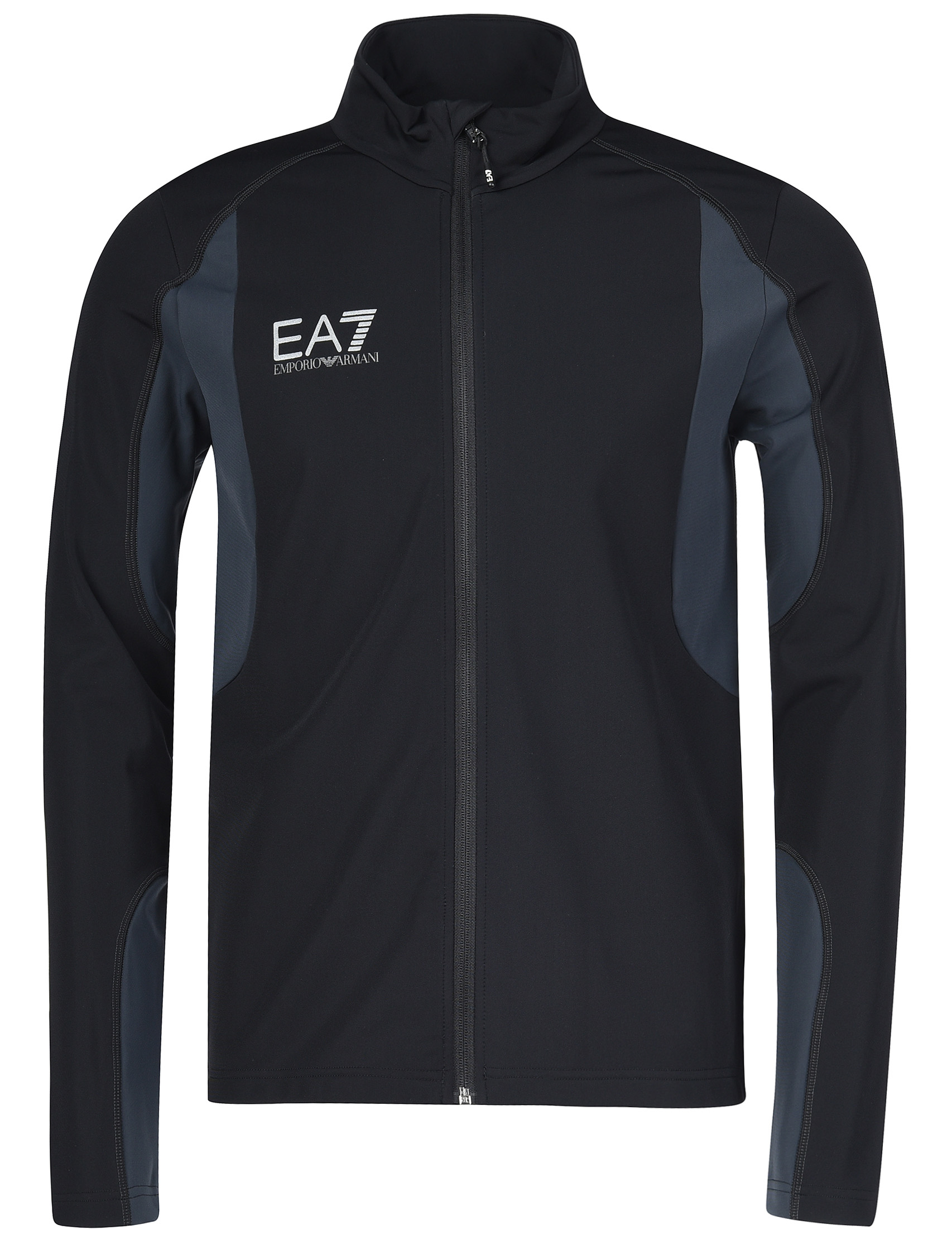 Купить Спортивная кофта, EA7 EMPORIO ARMANI, Черный, 85%Полиамид 15%Эластан, Осень-Зима