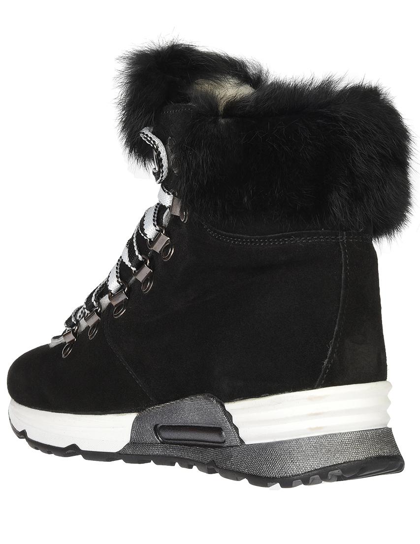 Замшевые чёрные кроссовки JOYKS (ITALY)
